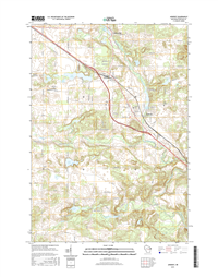 Amherst Winconsin  - 24k Topo Map