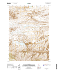 Anchor Reservoir Wyoming - 24k Topo Map