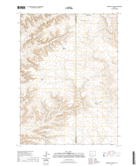 Anderson Canyon Wyoming - 24k Topo Map