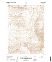 Anderson Draw Wyoming - 24k Topo Map