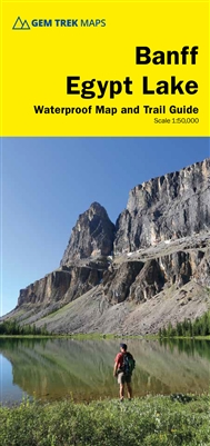 Banff - Egypt Lake - Gem Trek hiking map. Banff - Egypt Lake map covers the most popular hiking trails in the Banff area in four times as much detail as on our Banff-Mt. Assiniboine map. Map coverage stretches from just east of Taylor Lake in the west to