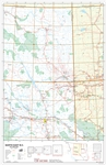 NE BC Base Wall Map. This map of northeast British Columbia at a scale of 1:1000,000 shows  primary and secondary highways, rivers, lakes, and other waterways, cities, towns, villages, airports, political boundaries, townships, sections and meridians, lat
