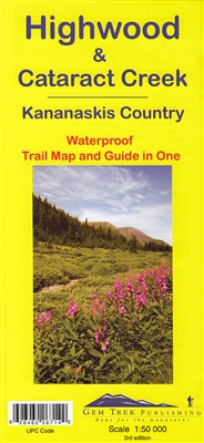 Highwood & Cataract Creek - Kananaskis Country Trail Map - Gem Trek. This is the fourth map in Gem Trek's Kananaskis Country series, covering south Kananaskis Country from Sheep River Falls in the north to Plateau Mountain in the south. It extends coverag