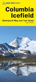 Columbia Icefield Map & Guide - Gem Trek. This is a comprehensive, user-friendly map and guide to what there is to see and do at the Columbia Icefield - from walks and hikes to tours and exhibits. The map combines contour lines with relief shading and cov