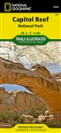 Capitol Reef National Park Utah Trail Map. Includes Anasazi State Park and portions of Fishlake National Forest, Grand Staircase-Escalante National Monument, and Dixie National Forest. Also Capitol Reef National Park, Circle Cliffs, Dixie National Forest,