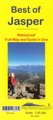 Best of Jasper Trail Map & Guide - Gem Trek. This map is designed for people who are only going to be in Jasper for one to three days, and want to know what the highlights are and how to find them. On the front is a 1:35,000 scale detailed topographic map
