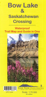 Bow Lake & Saskatchewan Crossing Map & Guide - Gem Trek. This map covers the trails departing from the southern section of the Icefields Parkway from Rampart Creek south to Hector Lake. A 1:100,000 scale inset map on the back of the map increases coverage