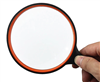 4 Inch Handheld Magnifier 7X Zoom. The size of this magnifier is well built with 7 times zoom. The materials are rubber and glass. Perfect for the home or office. The lens diameter is 100mm (4 inches).  Ideal for viewing fine details in books, small print