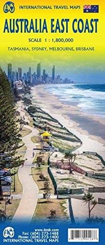 East Coast Australia Road Map.Australia East Coast And Tasmania Travel And Road Map Includes
