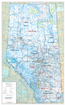 Alberta First Nations Treaty Boundaries Wall Map 1:1,000,000. Also includes the land-use framework planning regions. Current map of Alberta shows primary and secondary highways, both paved and unpaved, Railroads, Lakes, Rivers, Cities, Towns, Villages, Ai