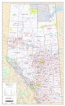 Alberta Municipal Districts & Counties Wall Map 1:1,000,000. The Municipal Districts version also shows all of the County and Municipal District boundaries. The maps shows primary and secondary highways, rivers, lakes, and other waterways, cities, towns,