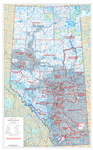 Alberta Electoral Divisions Wall Map 1:750,000. This current map of Alberta shows the Provincial Electoral Divisions, as defined by the Electoral Divisions Act 2017. Includes primary and secondary paved and unpaved highways, Railroads, Lakes, Rivers, Citi
