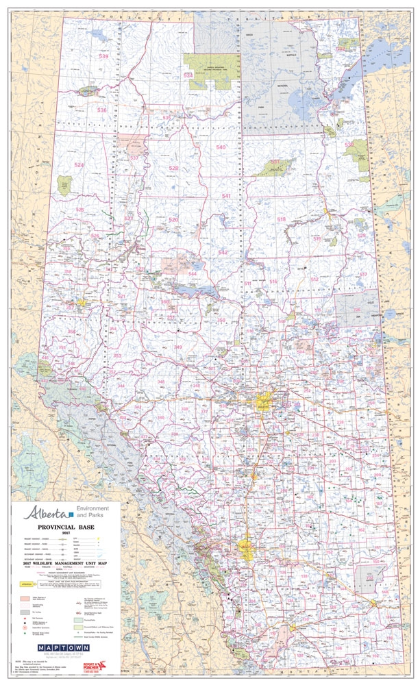 Alberta Provincial Base Map Wildlife Management Units 11000000