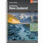 New Zealand Handy Atlas This small format (B5) atlas offers New Zealand's clearest mapping. With over 100 detailed regional and city maps which feature hundreds of adventure activities plus over 300 motorhome parks and camping sites. With beautiful scenic