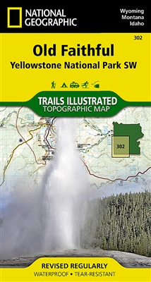 Old Faithful, Yellowstone National Park SW. National Geographic's Trails Illustrated map of the Old Faithful area of Yellowstone National Park is designed to meet the needs of outdoor enthusiasts with unmatched detail of the south west section of th