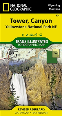 304 Tower Canyon Yellowstone National Park NE National Geographic Trails Illustrated map