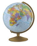 World Globe - Explorer 12 inch REPLOGLE. This globe is one of our most popular models, and is perfect for schools, libraries and as a great teaching resource. The 12 inch blue-ocean globe offers a vibrant contrast to the durable metal gold colored base. T
