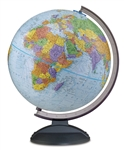 World Globe - Traveler 12 inch REPLOGLE. Light weight and durable, this 12 inch blue-ocean globe is a great resource for elementary, middle, high school students. The smoked black plastic base and meridian are scratch resistant and strong. Each county is