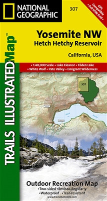 307 Yosemite NW Hetch Hetchy Reservoir National Geographic Trails Illustrated
