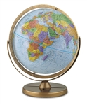 World Globe - Pioneer 12 inch. The 12 inch diameter blue ocean globe by Replogle has swivel mounting swings so that you can bring any area of the globe into view. This way you can easily spin the globe to view hard to view places like Antarctica. Features