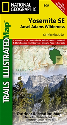 309 Yosemite SE Ansel Adams Wilderness National Geographic Trails Illustrated