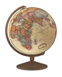 Franklin - 12 inch Desk Globe. The Franklin's 12 inch antique ocean globe features an antique-finished base. Contains more than 4,000 place names and distinctive political boundary markings. Perfect for the executive or home office.
