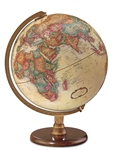 Hastings - 12 inch Executive World Globe. The Hastings will give you a world perspective. Its enduring appeal comes from the antique-ocean 12 inch globe ball, solid walnut-finish hardwood base, and die-cast semi-meridian. Even in your office, the world is