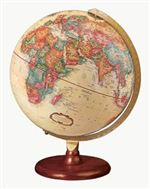 Piedmont - 12 inch World Globe. This antique style globe is an attractive addition to any office or in your home. Made with a solid hardwood base, and painted die-cast semi-meridian make this a perfect globe for any setting.