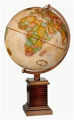 Frank Lloyd Wright Glencoe 12 Inch Desk Globe. Frank Lloyd Wright (1867-1959) is widely considered to be America's greatest architect. In 1911, Mr. Wright created designs for Booth Park in Glencoe, Illinois. This globe stand is adapted from a large brick