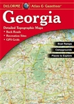 Georgia Atlas & Gazetteer. With an incredible wealth of detail, DeLormes Atlas & Gazetteer is the perfect companion for exploring the Georgia outdoors. Extensively indexed, full-color topographic maps provide information on everything from cities and town