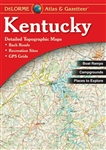 Kentucky Atlas & Gazetteer. With an incredible wealth of detail, DeLormes Atlas & Gazetteer is the perfect companion for exploring the Kentucky outdoors. Extensively indexed, full-color topographic maps provide information on everything from cities and to