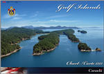 3313 Gulf Islands and Adjacent Waterways Nautical chart book. Spiralbound chartbook covering the Canadian Gulf Islands, includiing Boundary Pass, Haro Strait, the southern Strait of Georgia, Saltspring Island, Galiano Island, Victoria Harbor, Saanich Inle