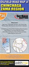 Oilfield Road Map of Chinchaga Zama Region