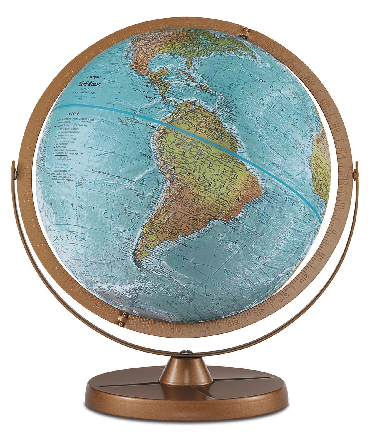 Atlantis 12 Inch Desk Globe Land Areas On This Special Globe Are In True To Life
