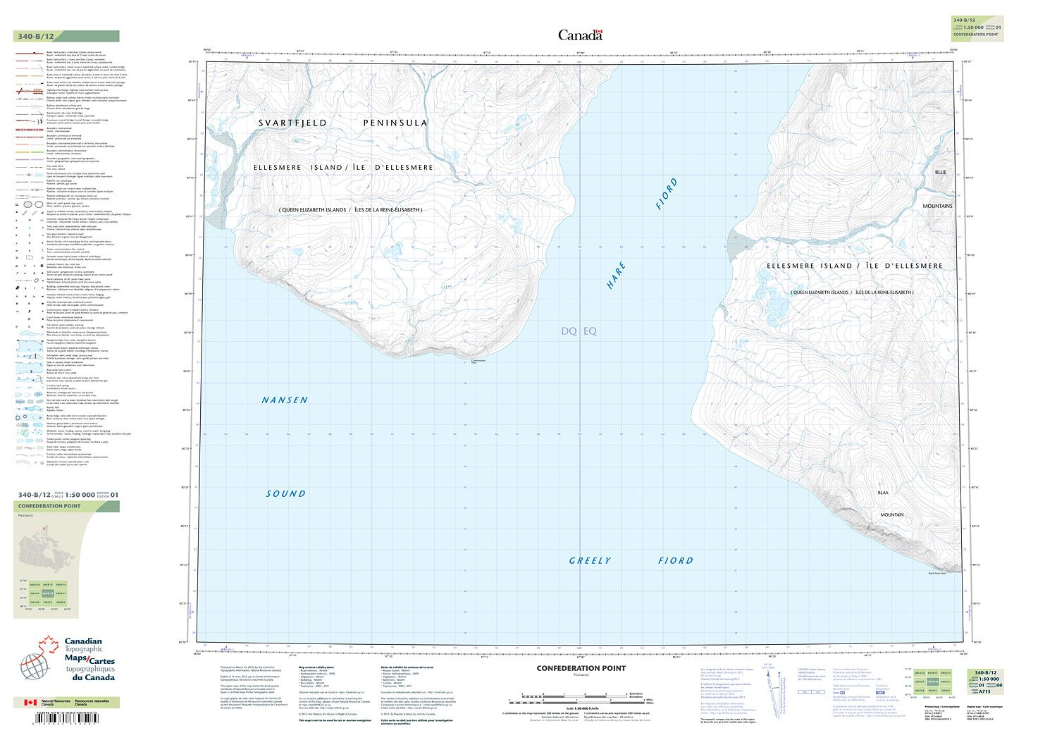 Map Of Canada Confederation.340b12 Confederation Point Topographic Map