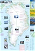 Greenland & the North Pole Travel Exploration map. This map of Greenland contains a good deal of helpful information and general knowledge of the Island. Shows a small amount of topographical information. Greenland is indeed a fascinating place to visit.