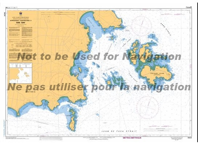 3424 - Approaches to Oak Bay Nautical Chart. Canadian Hydrographic Service (CHS)'s exceptional nautical charts and navigational products help ensure the safe navigation of Canada's waterways. These charts are the 'road maps' that guide mariners safely fro