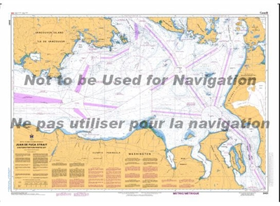 3461 - Juan de Fuca Strait - Eastern Portion Nautical Chart. Canadian Hydrographic Service (CHS)'s exceptional nautical charts and navigational products help ensure the safe navigation of Canada's waterways. These charts are the 'road maps' that guide mar