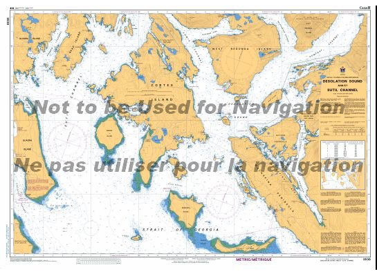 3538 - Desolation Sound and Sutil Channel Desolation Sound Map on