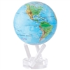 MOVA Solar Globe Blue Relief - 4.5 Inch. MOVA Globe recreates the earth's perpetual motion in space, on your desktop, or even in the palm of your hand. These globes float at a perfect point of balance between gravitational forces and the buoyant forces of