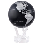 MOVA Solar Globe Silver Metallic - 4.5 Inch. MOVA Globe recreates the earth's perpetual motion in space, on your desktop, or even in the palm of your hand. These globes float at a perfect point of balance between gravitational forces and the buoyant force