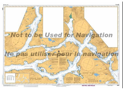 3543 - Cordero Channel Nautical Chart. Canadian Hydrographic Service (CHS)'s exceptional nautical charts and navigational products help ensure the safe navigation of Canada's waterways. These charts are the 'road maps' that guide mariners safely from port