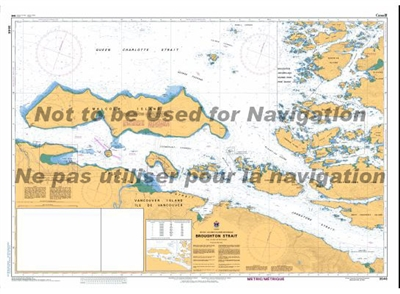 3546 - Broughton Strait Nautical Chart. Canadian Hydrographic Service (CHS)'s exceptional nautical charts and navigational products help ensure the safe navigation of Canada's waterways. These charts are the 'road maps' that guide mariners safely from por