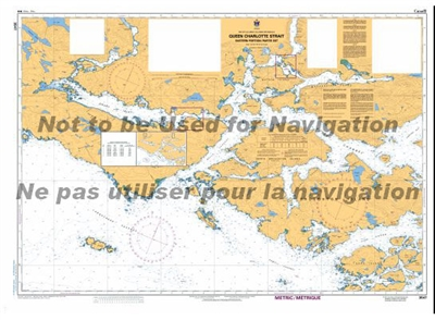 3547 - Queen Charlotte Strait - Eastern Portion Nautical Chart. Canadian Hydrographic Service (CHS)'s exceptional nautical charts and navigational products help ensure the safe navigation of Canada's waterways. These charts are the 'road maps' that guide
