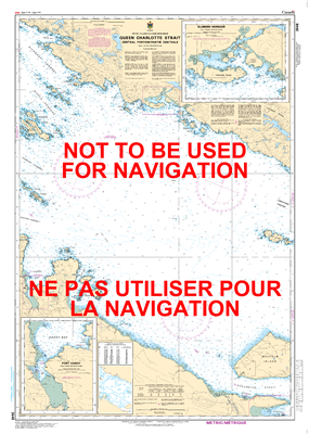 3548 - Queen Charlotte Strait - Central Portion Nautical Chart. Canadian Hydrographic Service (CHS)'s exceptional nautical charts and navigational products help ensure the safe navigation of Canada's waterways. These charts are the 'road maps' that guide