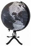 "Hamilton World Globe 12"". A beautifully designed rustic globe, the Hamilton brings a unique look to any room. The 12"" raised relief globe ball features black, white and gray tones which match perfectly with the sturdy, metallic base with an arrowhead bott"