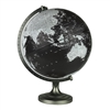 "Bancroft Black & White World Globe 12"". Made for National Geographic by Replogle, this 12"" raised relief globe shows raised relief. Has a 1930's feel to it, but with modern countries and places. Perfect for any home or office. Has a sturdy, metallic base."
