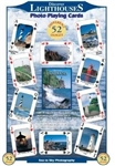 Discover Lighthouses - Playing Cards. Playing cards with 52 different images of various lighthouses. A different image on every card! Poker sized, superior print quality and top quality plastic coated.
