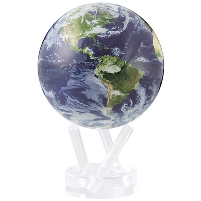 MOVA Globe Satellite with Clouds - 4.5 Inch. MOVA Globe recreates the earth's perpetual motion in space, on your desktop, or even in the palm of your hand. These globes float at a perfect point of balance between gravitational forces and the buoyant force