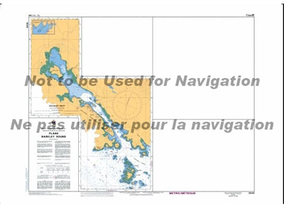3646 - Barkley Sound - Plans Nautical Chart. Canadian Hydrographic Service (CHS)'s exceptional nautical charts and navigational products help ensure the safe navigation of Canada's waterways. These charts are the 'road maps' that guide mariners safely fro